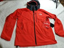The North Face Mens Summit L4 Windstopper Size Medium Hooded Climbing Jacket Red