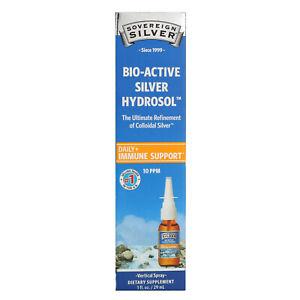 Sovereign Silver, Bio-Active Silver Hydrosol, Vertical Spray, 10 PPM, 1 fl oz