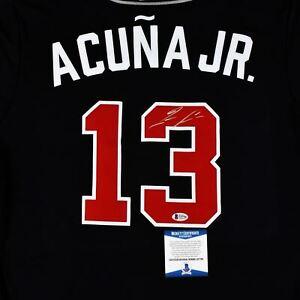 Ronald Acuña Jr. Signed Nike Atlanta Braves Jersey - Navy