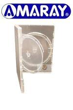 100 Doppie chiaro DVD casi da 14 mm spina con Swing VASSOIO RICAMBIO COPERTURA Amaray