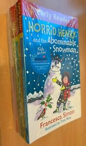 Pack of 7 Horrid Henry Early Readers by Francesca Simon New Free Postage