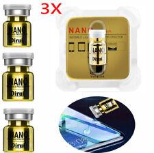 3 Pcs Gold NANO Liquid Glass Screen Protector Oleophobic Coating Film Universal