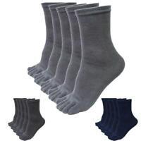 5 pairs Men's Women's Socks Pure Cotton Sports Five Finger Socks Toe Socks