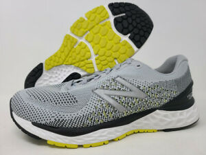 New Balance Men's 880 v10 Running Shoe, Silver/Lemon, 8 2E(W) US