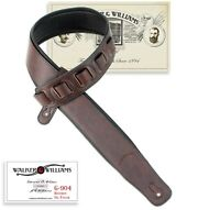 Walker & Williams G-904 Bourbon Brown Weathered Finish Padded Guitar Strap