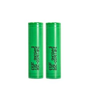 2x Samsung 25R 2500mAh 35A Rechargeable Multi Use Battery High Drain Flat Top