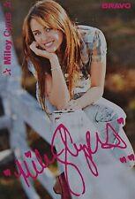 MILEY CYRUS - Autogrammkarte - Signed Autograph Autogramm Sammlung Clippings