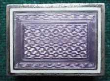 Antique Novelty Sterling Silver & Purple Guilloché Rubber / Eraser Holder