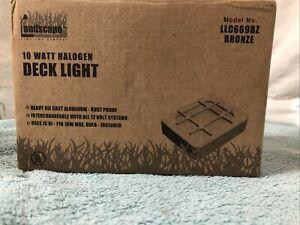 ANDSCAPE Low-Voltage 10-Watt Halogen Bronze Square Deck Light .Weather Resistant