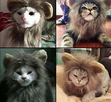 Pet Hat Costume Lion Mane Wig For Cat Halloween Dress Up With Ears Cosplay
