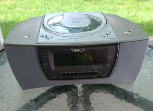 Timex Stereo CD Dual Alarm Clock Radio Nature Sounds Model: T608T Tested Works