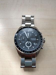 Fossil Herren-Armbanduhr CH2600 - Chronograph Edelstahl - Silber