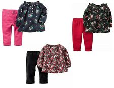 Carter's Baby Girls 6 Piece Shirt and Pant Set - 3 Months - NEW/NWT