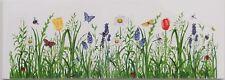 Bordüre 20x7cm  Sommer Blumen und Schmetterling (summer flowers butterfly)