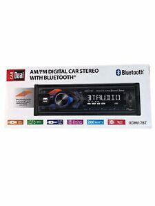 Dual Car AM/FM Digital Car Stereo w/ Bluetooth XDM17BT Black NEW Open Box