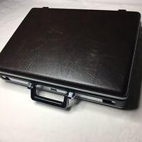 Vintage Samsonite Hard Shell Brief Case Combination 18 x 13 x 3.5 Dark Brown