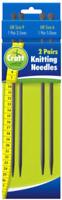 2 Pairs Knitting Needles - 4.5mm x 35cm UK size 7 - 5mm x 35cm UK Size 6