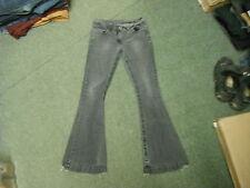 """George Kick flare Jeans Waist 34"""" Leg 32"""" Black Faded Ladies Jeans"""