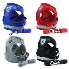 Adjustable Pet Dog Durable Leash Rope Safety Reflect Light Vest Neck Strap