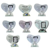 Photo & Poem in Heaven Plaque Memorial Tea Light Candle Holder Many Relative