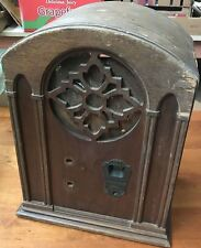 Antique Vintage Emerson Tombstone Radio No Tubes Wood Case Only