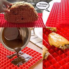 Pyramid Pan Non Stick Reducing Silicone Cooking Mat Oven Baking Tray Sheets b5