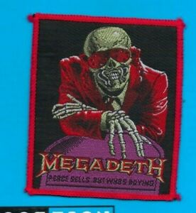 Megadeth Peace Sells vintage 1980s SEW ON PATCH