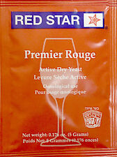 Red Star Premier Rouge Wine Yeast, 5g - 10-Pack