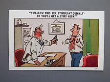 R&L Postcard: Comic, Quip, Doctor Male Impotence, Sexual Innuendo