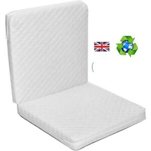 QUILTED Folding Travel Cot Mattress 120 x 60 x 7cms Fully Breathable UK Mfd
