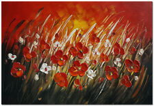 "24x16"" Hand Painted Impressionist Flower Painting"