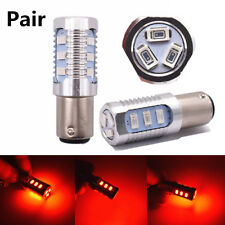 Pair 1157 Red Flashing Car SUV Rear Alert Safety Brake Tail Stop LED Light Bulbs