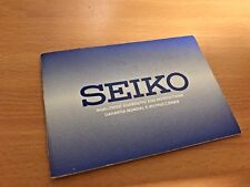 New Seiko 1995  Instruction With Clean Service Card Booklet