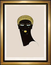 ERTE Color Serigraph Queen Of Sheba Costume Design Art Deco Signed Authentic SBO