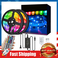 32.8ft LED Strip Lights RGB 300LEDs Waterproof Light Strip with infrared 44 Keys