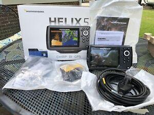 """Humminbird Helix 5"""" Chirp DI GPS G2 LED Fish Find New In Box Navionics Map Card"""