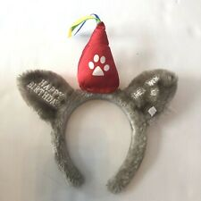 Great Wolf Lodge Ears Headband Furry Souvenir Happy Birthday Embroidered #MM32