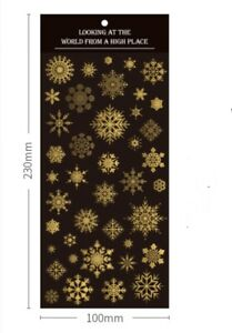 Gold Foil Snowflakes and Stars Sealing PVC Stickers One sheet ST411
