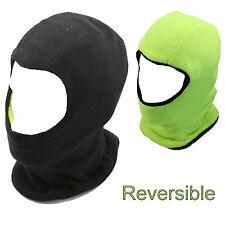 Mens Reversible Black Yellow Balaclava Hood, Fleece Balaclava Outdoor & Workwear