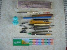 Vintage: pour collectionneur ECRITURE-STYLOS Lot de 11 pces dont p-plume à oeil