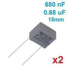 2 Condensateurs MKP X2 0.68uF 0.68µF 680nF 275V 15mm