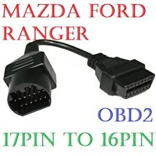 Mazda/Ford Ranger 17pin to 16pin OBD ODB2 Code Scanner diagnostic cable Lead