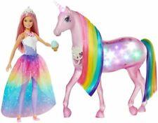Barbie Dreamtopia Licorne Lumières Magiques Ensemble de Jeu (FXT26)