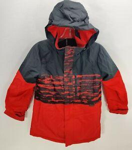 Burton DryRide Ski SnowBoard Jacket Coat Youth Small 7/8 Red Black