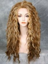100% Human Hair Natural Long Wavy Light Blond Fashion Women's Wig
