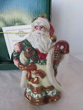 Fitz and Floyd Christmas Wreath Santa Claus Ornament Old World Santa Claus