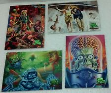 2013 Mars Attacks Topps Masterpieces set 4 Cards (of 5 Card insert set) NM/VF