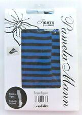 Pamela Mann Footless Tights Blue/Black Stripe One Size New Unused
