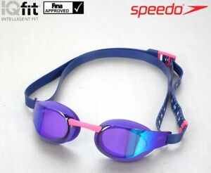 SPEEDO FASTSKIN MIRROR ELITE SWIMMING GOGGLES - VIOLET PURPLE PINK BLUE RRP £49