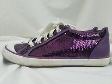 Authentic Coach Purple Sequin Sneakers Lace Up Shoes Size 8 Women's EUC